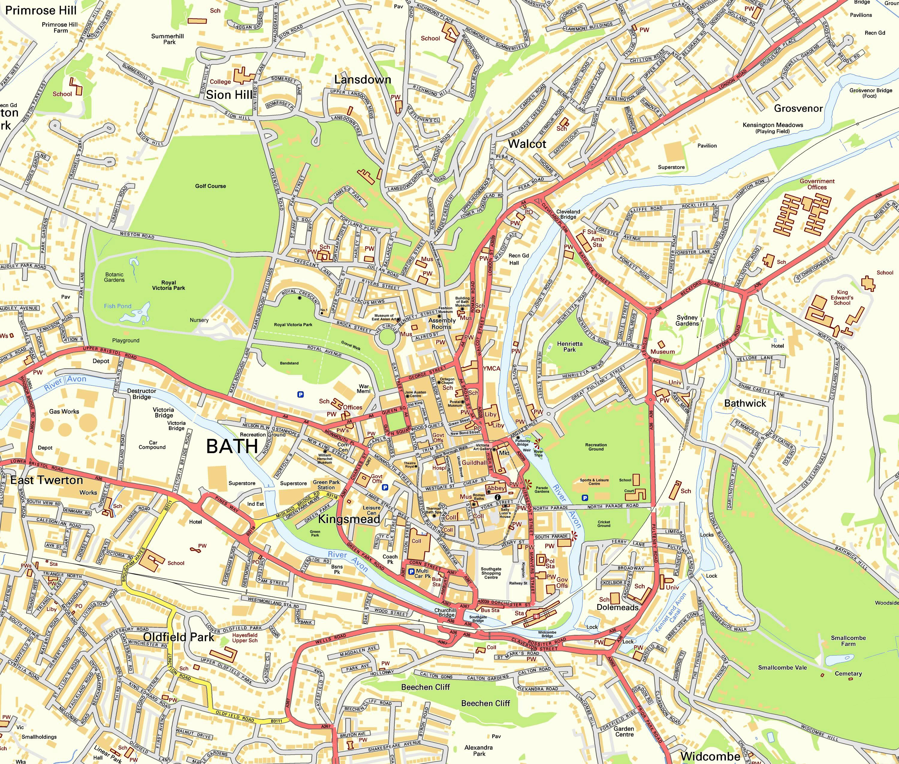 Map of Bath and Bristol for Vi Lets Property
